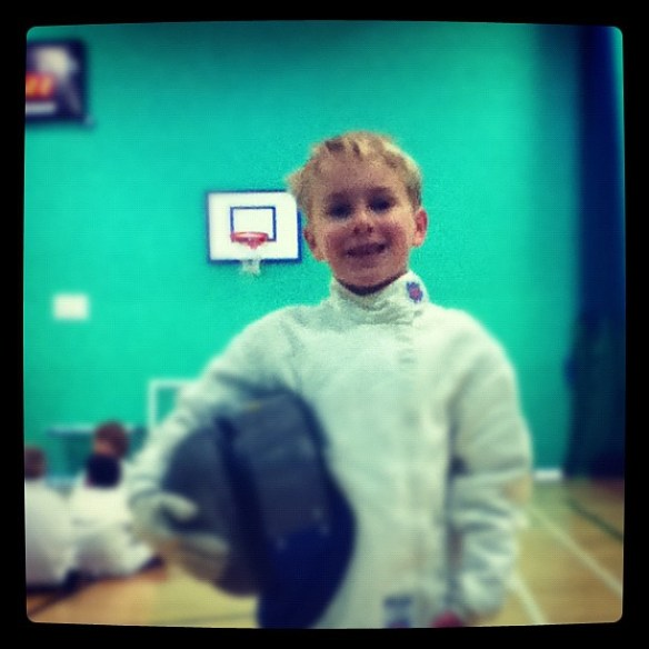 My little fencer