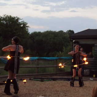 Fire Hula Hooping