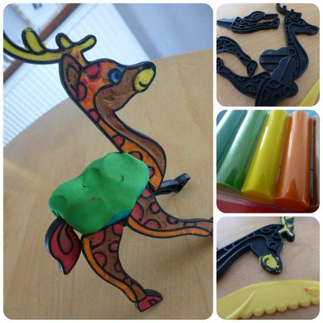plasticine reindeer