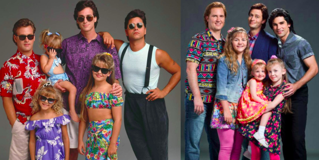 The Cast Photo For Lifetime s  Full House  Movie is Unintentionally     Full House Lifetime