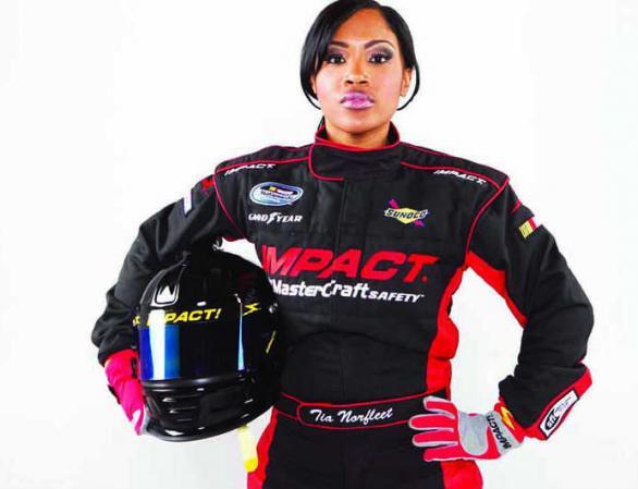 sports meet tia norfleet the 1st black female nascar driver good black news. Black Bedroom Furniture Sets. Home Design Ideas