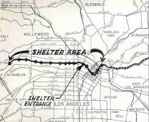 1961 New Proposed Backbone Route Plan with Fallout Shelters