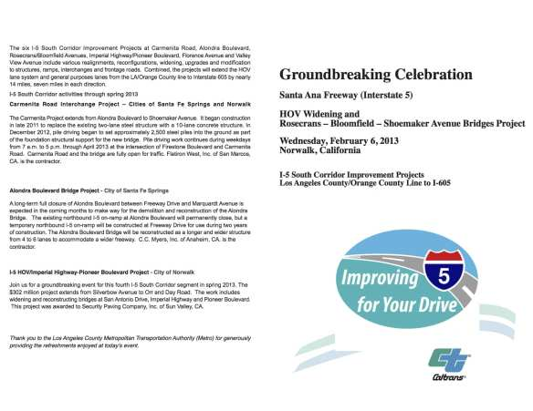 groundbreaking program I5
