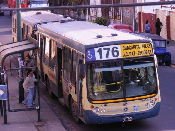 A bus in Buenos Aires, photographed in 2009. Photo by ag2078, via Flickr creative commons.