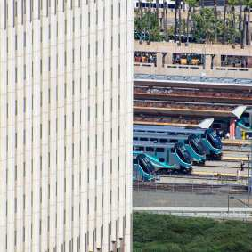 Metrolink cab cars at Union Station today.