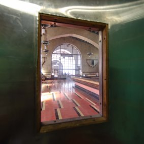 And then there's the Harvey House as seen from a portal in the kitchen door.