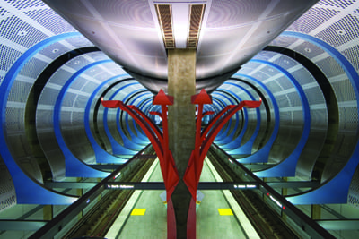 Artwork by Sheila Klein at Hollywood/Highland Station. Titled Underground Girl, the artwork frames the station interior as an undulating, organic and sensual space. Metro Art Tours begin at this station on the first Thursday and first Saturday of each month.