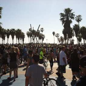The finish line at Venice. Photo by Heidi Zeller/Metro