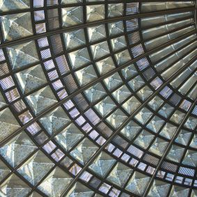 The very cool glass ceiling in the transit plaza. Photograph courtesy of Metro. ©2013 LACMTA