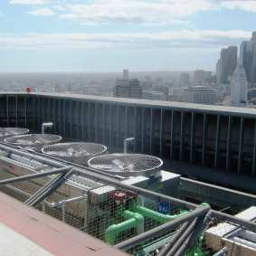 New energy efficient coolers were installed this year on the roof of Metro HQ.