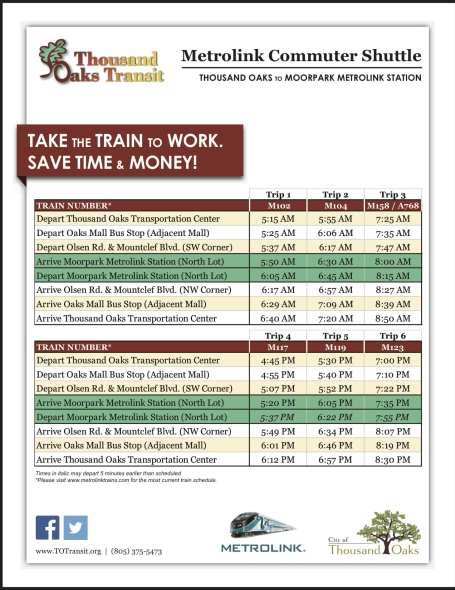 Metrolink Schedule FINAL 07012013