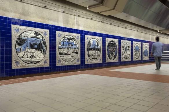 Westlake/MacArthur Park Station, MacArthur Park, Urban Oasis, Sonia Romero, Artist. Photo: Metro Creative Services.