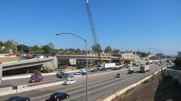 New Northbound I-405 off-ramp to Sunset Boulevard now under construction.