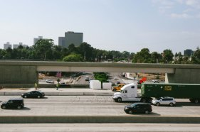 The SB flyover ramp as seen from the NB flyover ramp. Photo by Steve Hymon/Metro.