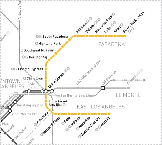 map-gold-line-map