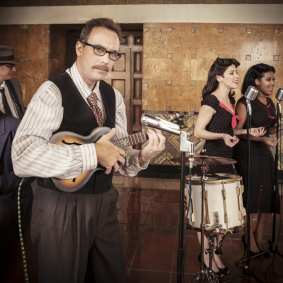 A blast to the past at Union Station: WWII-era swing music.