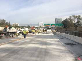 New slabs on the NB side of the 405.