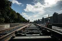 Rail installation in Palms.