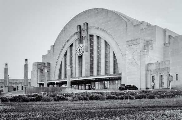 ART OF TRANSIT: Okay, this isn't the train station we've been featuring prominently on this blog in recent weeks. Union Terminal in Cincinnati was completed in 1931 -- eight years before our Union Station opened -- and is also Art Deco but obviously very different from our station. Also different from L.A. Union Station: Cincy's station is now a museum, served only by a single Amtrak train that runs a somewhat odd route between Chicago and New York. Photo by Steve Hymon.