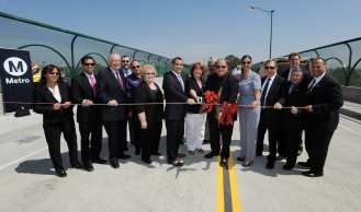 Elected officials officially opening the bridge!