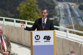 L.A. Mayor Eric Garcetti.