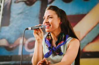 Las Cafeteras performed in the Historic Ticketing Hall during Union Station's 75th anniversary event in early May. Photo by Steve Hymon/Metro.