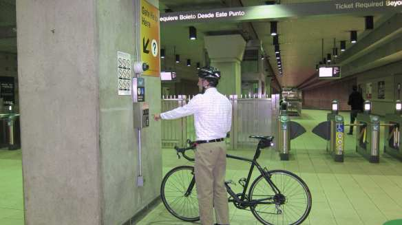 For a free ride on Bike to Work Day, May 15, use the Gate Help intercom to notify an attendant who will open the ADA gate for you!