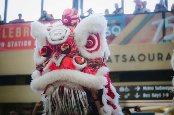 East Wind Lion Dance Troupe. Photo by Steve Hymon/Metro.