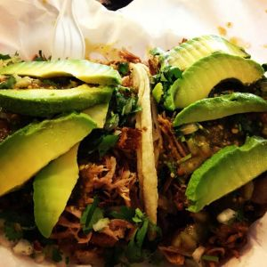 Another thing we love about Tacos Tumbras a Tomas? The liberal use of avocado. Photo by Matthew Kridler/Metro