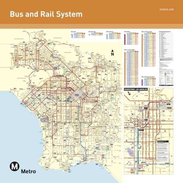 The Metro System map showing all the agencies' bus and rail lines. Click above for a pdf version that allows you to zoom in on different areas.