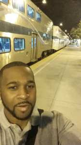 Commuter Ryan Long walks to his Metrolink station so early in the morning, it's still dark out!