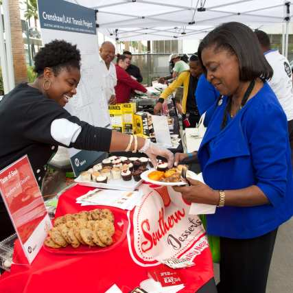 Come out and enjoy the food at Taste of Soul on Crenshaw! Photo: Gary Leonard/Metro