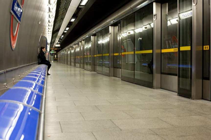 Subway platform doors in the London Tube. Photo by Lars Plougmann, via Flickr creative commons.