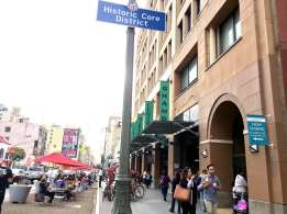 Grand Central Market Broadway entrance in downtown LA. Photo: Joseph Lemon/Metro