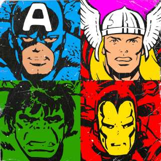 Avenger Popart by Roland Molnar via Flickr//CC
