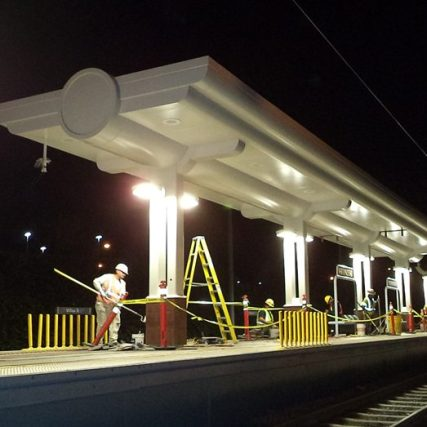 Willow Street Station received new LED lights and canopies this past month, among other improvements.