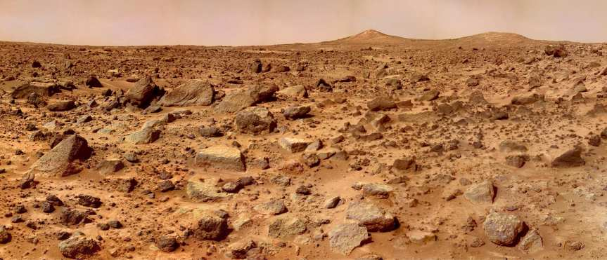 The reddish planet. Photo: NASA.
