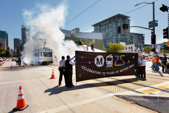 Metro Rail 25th Anniversary. Photo: Mark Clifford.