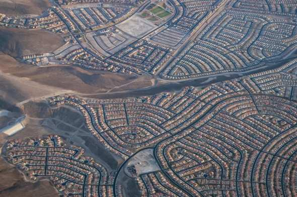 Las Vegas sprawl as seen in 2009. Photo by John 'K' via Flickr creative commons.