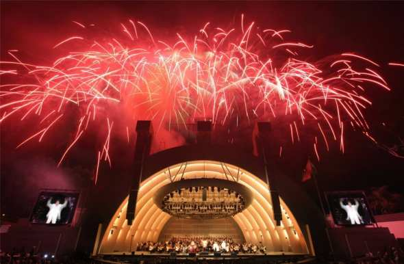 Fireworks at Hollywood Bowl
