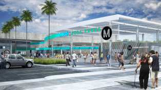 Rendering of future Willowbrook/Rosa Parks Station