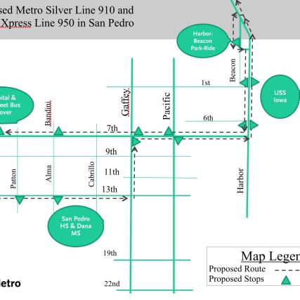 silver line change map