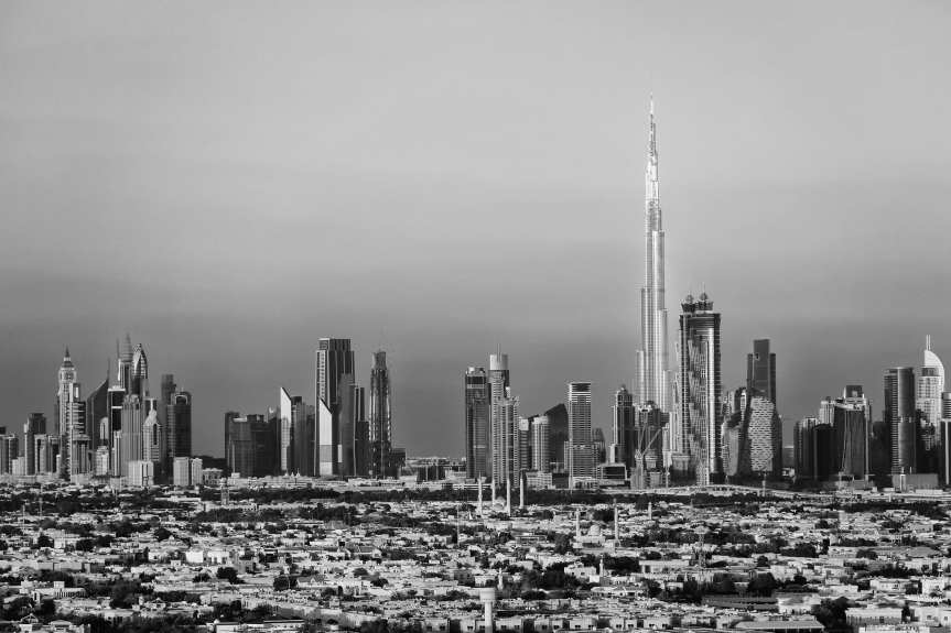 The Dubai skyline as of March 2014. Photo by Guillaume P. Boppe, via Flickr creative commons.
