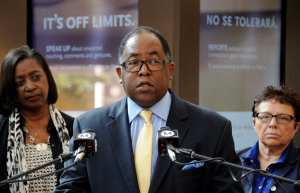 Metro Board Chair Mark Ridley-Thomas at the prevent Thursday. Photo by Juan Ocampo for Metro.