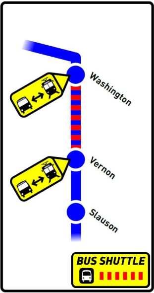 Washington-Vernon shuttles Oct 9-11