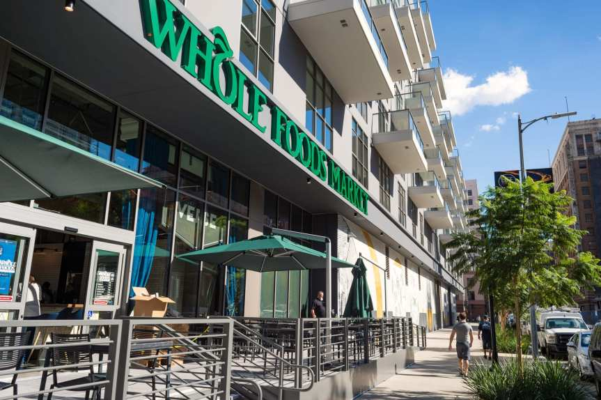 The Eighth Street side of the new Whole Foods. Photo by Steve Hymon/Metro.