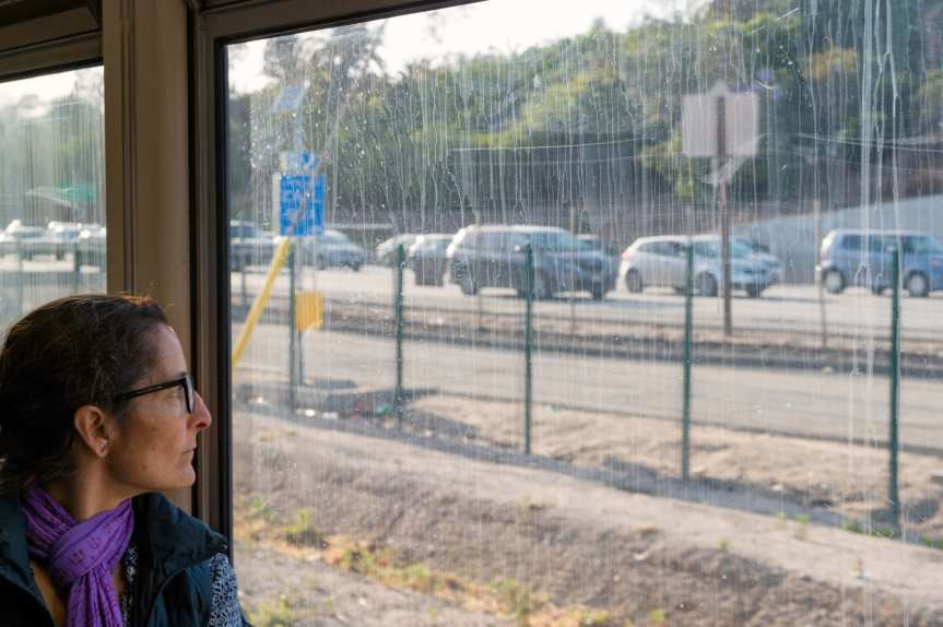 The Santa Monica Freeway as seen from the Expo Line. Photo by Steve Hymon/Metro.