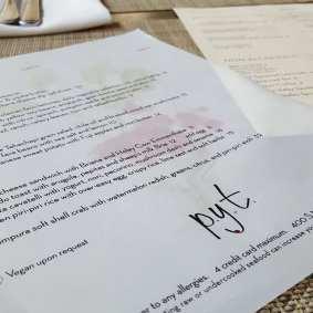 pyt menu
