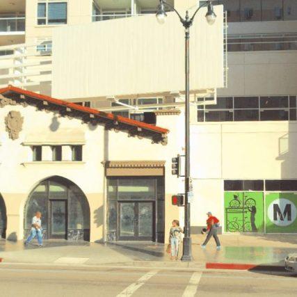 Outside the soon-to-open Hollywood + Vine Metro Bike Hub.