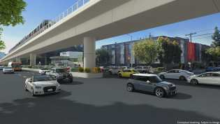 A rendering of heavy rail at Sepulveda and Weddington in the Valley.